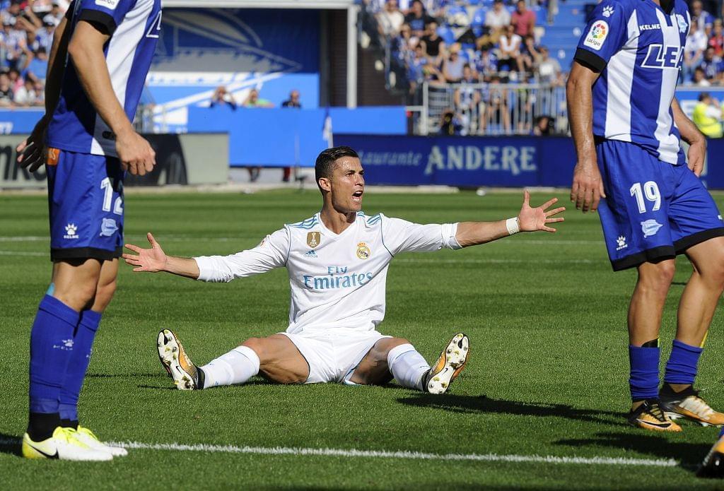 C罗才踢2场已是西甲射门最多之人 但球就是不进!
