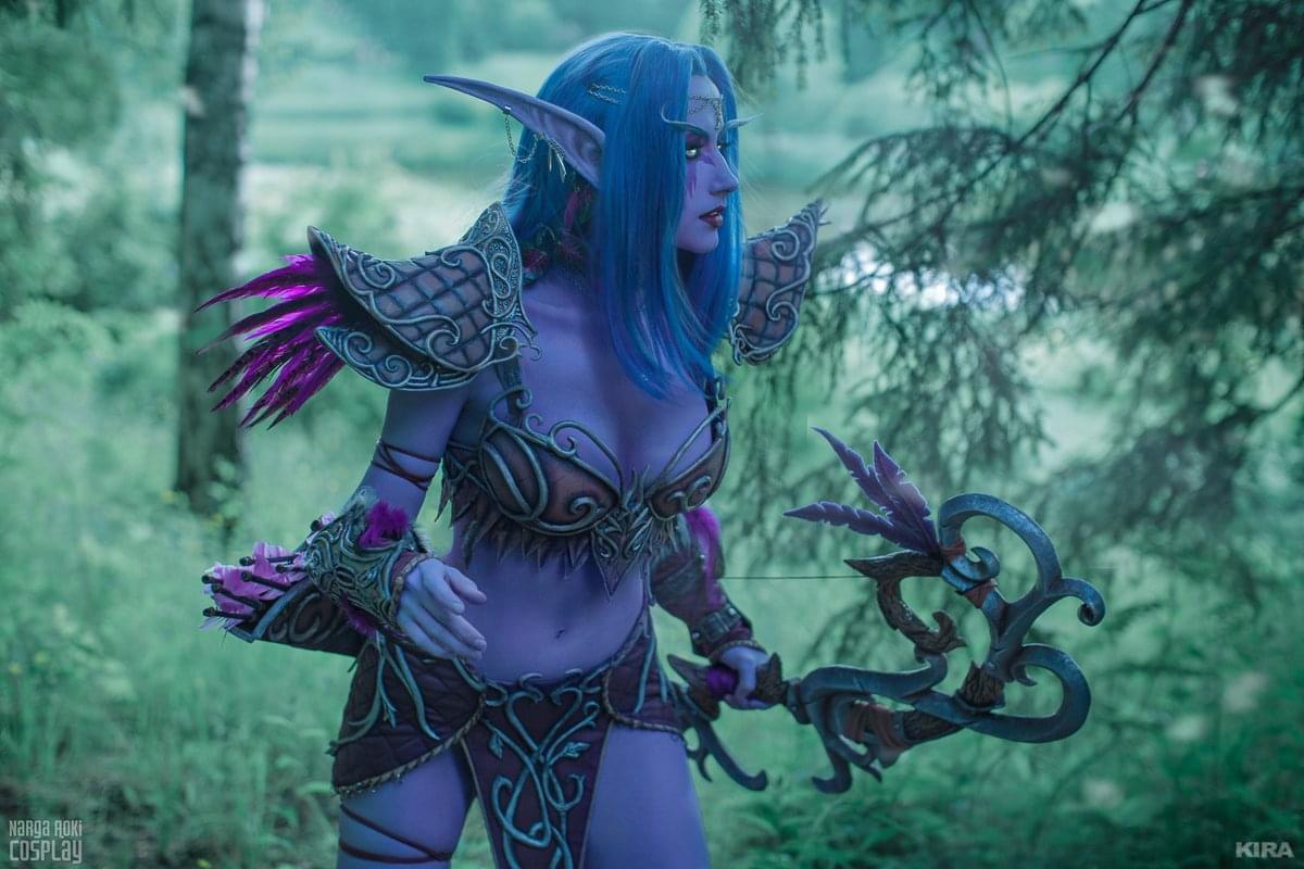 魔兽世界COS:身材超棒的俄罗斯妹子 神还原泰兰德