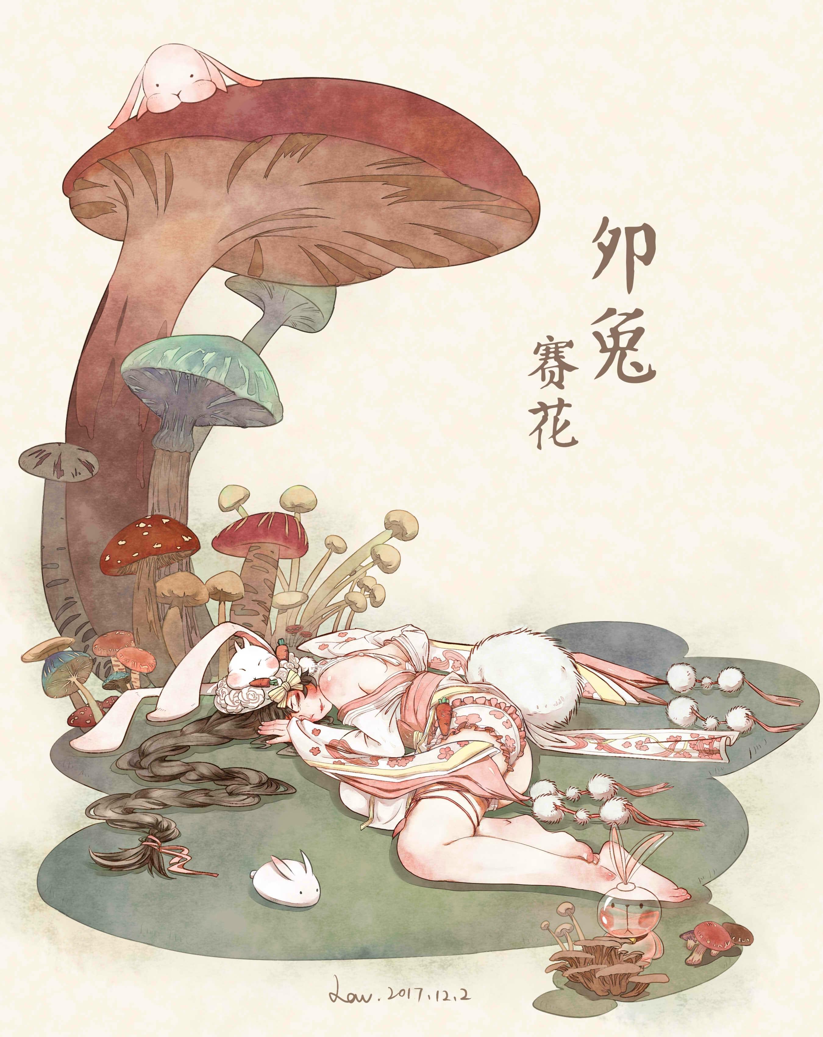 《天谕》十二神殿之卯兔赛花精美同人手绘