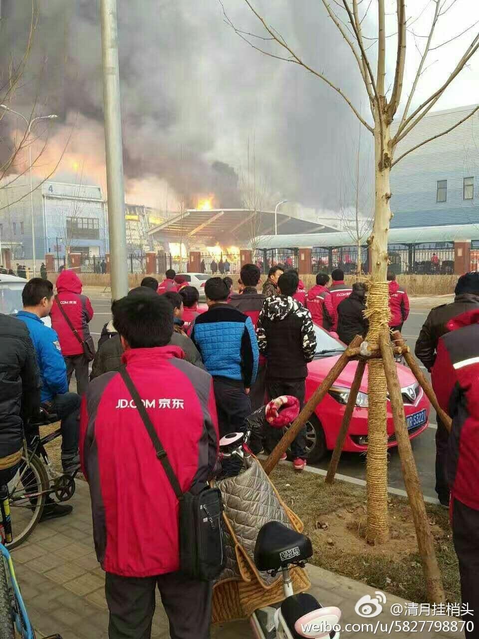 京东仓库发生火灾 回应称无伤亡 或影响部分订单