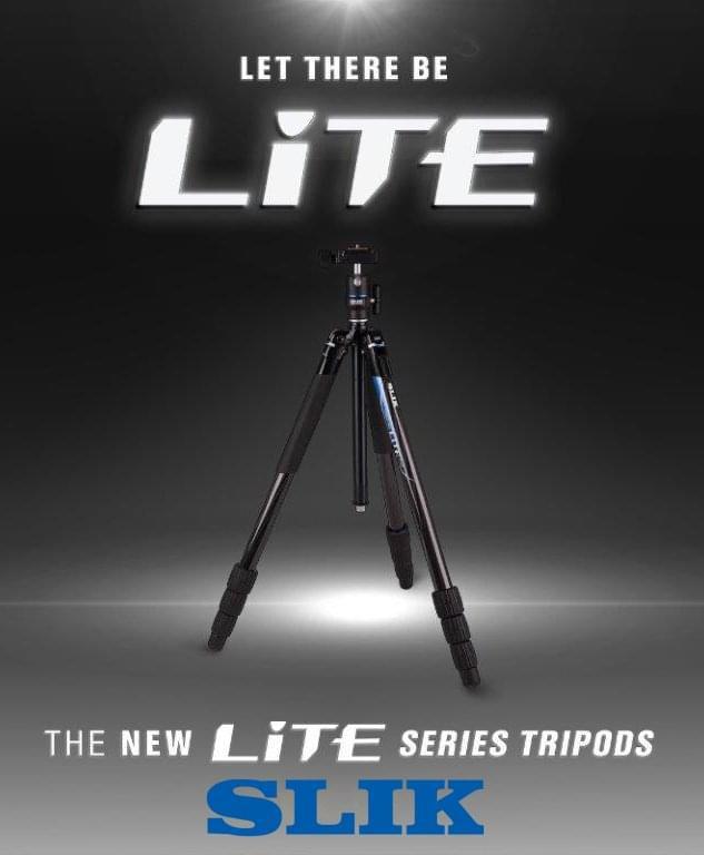 Slik发布全新Lite系列三脚架 内置LED照明灯