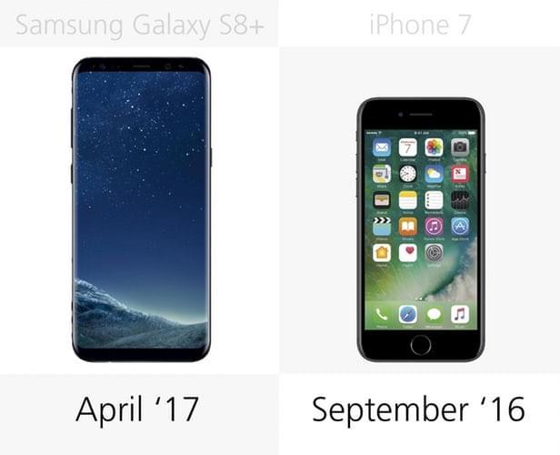 Galaxy S8+和iPhone 7规格参数对比的照片 - 35