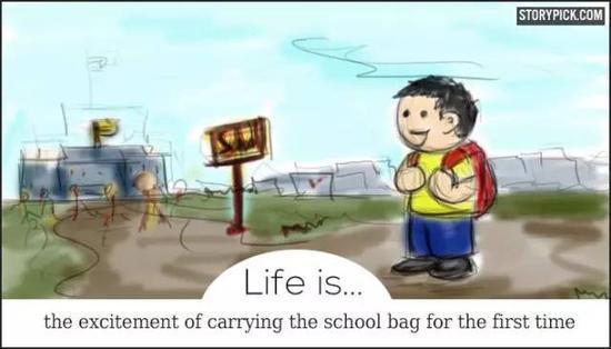 刷爆了国外朋友圈的英文漫画:人生的意义