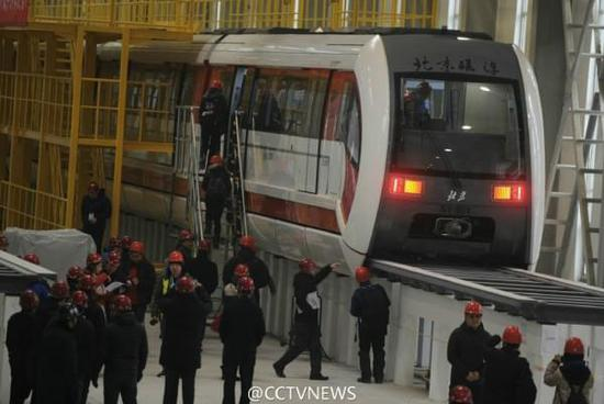 [图]北京首列磁浮列车亮相门头沟 2017年载客运营