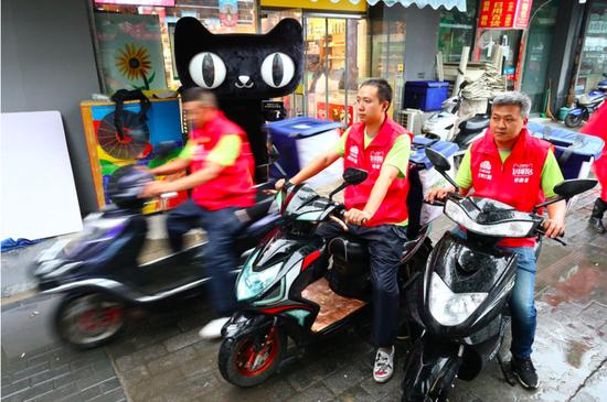 北京暴雨天猫超市订单量增长 200% 数千快递小哥保障生活用品一小时送达