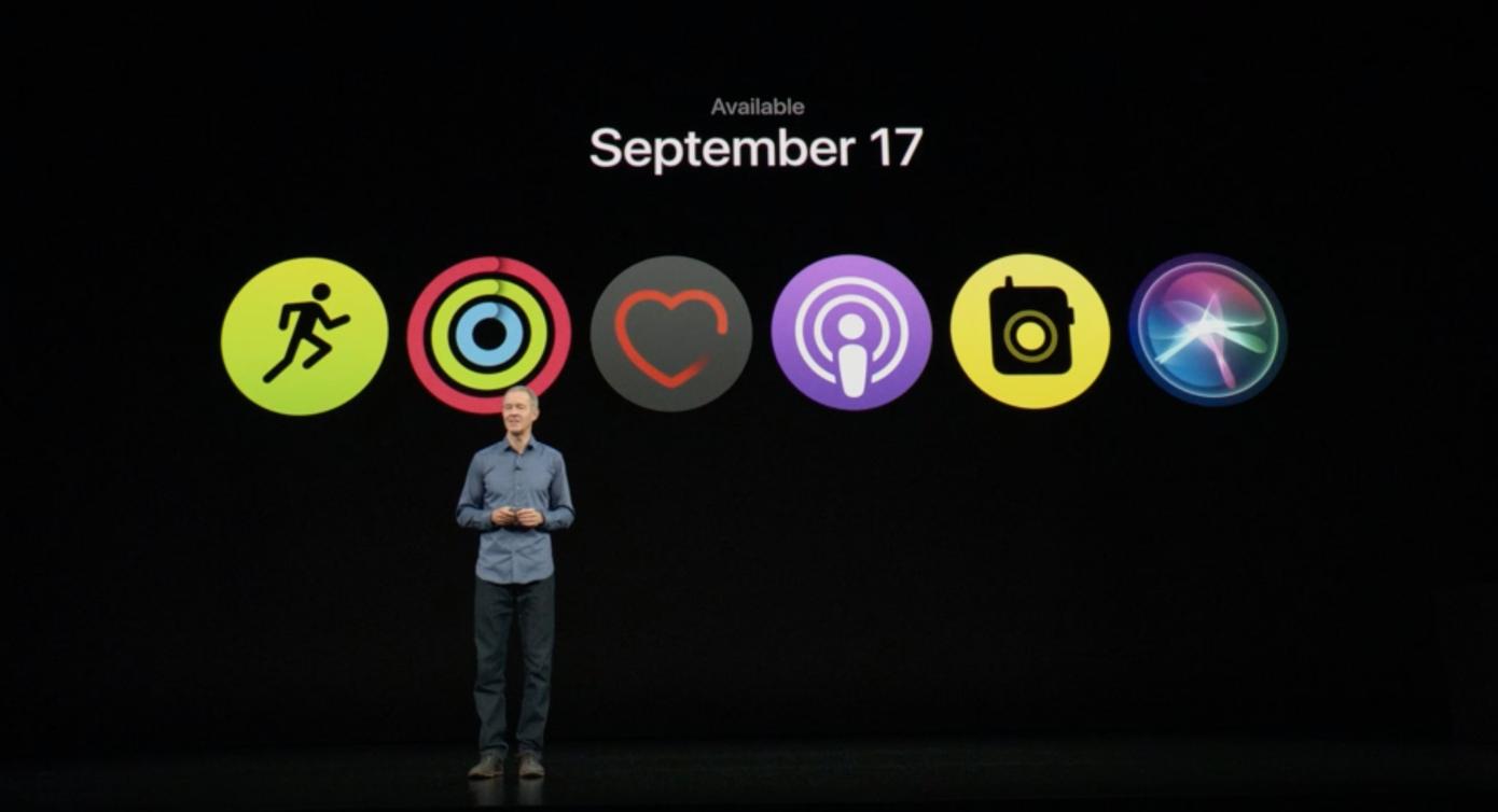 苹果将在9月17日推出watchOS5,增强Siri功能