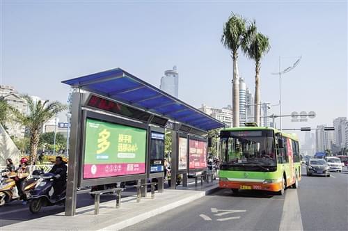 南宁今年将新建150座智能公交电子站牌 出行便捷