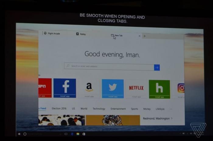 微软:Windows 10下个重大更新Edge浏览器将会更快的照片 - 1