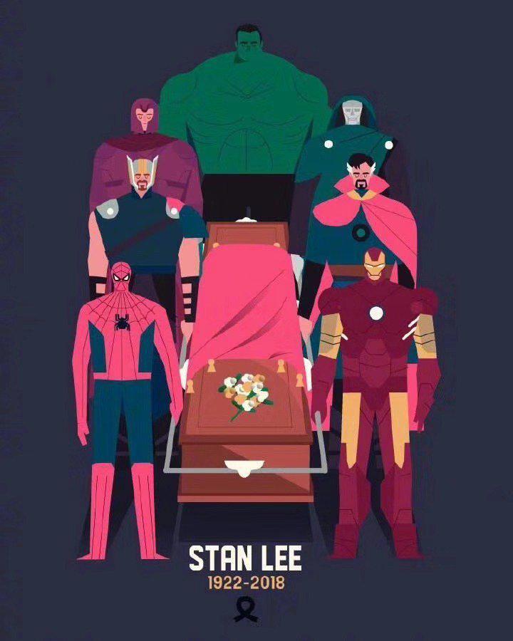 漫威众影星集体悼念斯坦·李 就连美国陆军也发推了