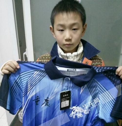 石柱县11岁小球手入选市乒乓球队