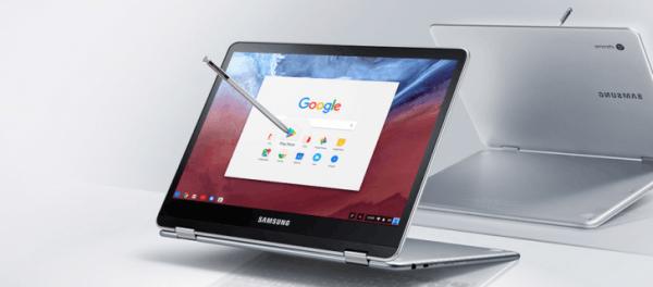 三星新Chromebook笔记本曝光:支持360度旋转、配备触控笔的照片 - 1