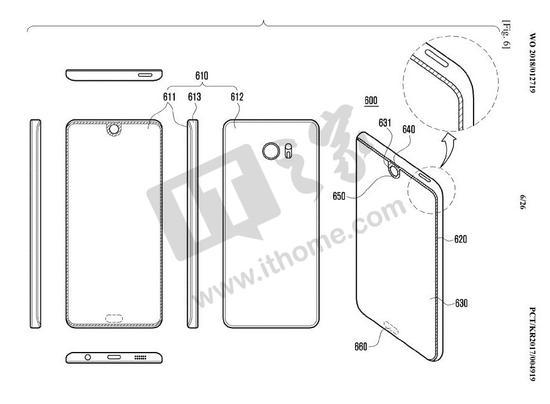 挑战iPhone X 三星全面屏设计新招:屏幕上打洞