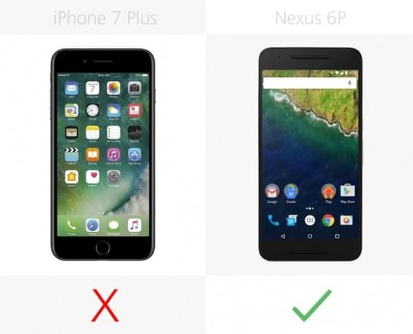 iPhone 7 Plus和Nexus 6P规格参数对比的照片 - 16