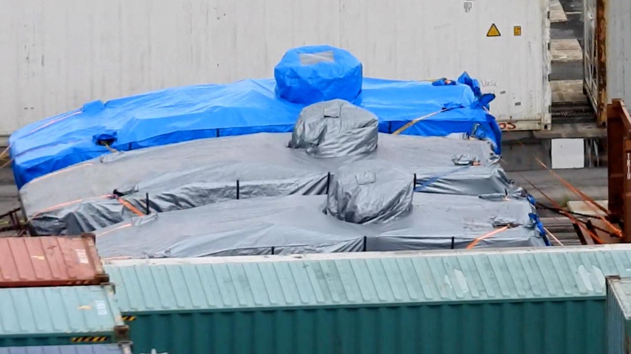 被香港海关查扣的AV-81装甲车