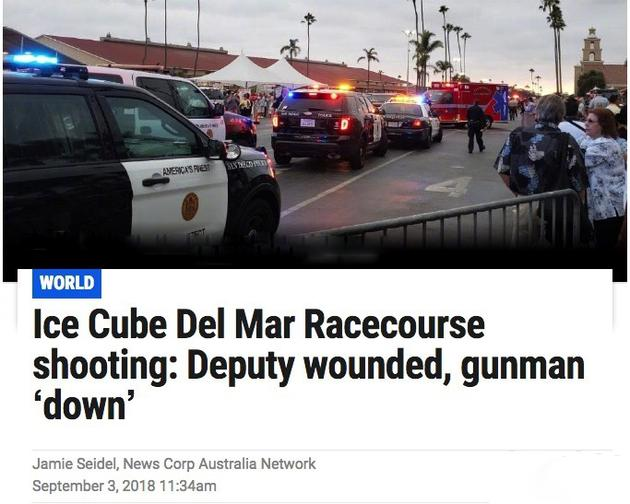 Ice.  Cube演唱会发生枪击事件. 已被警方制服