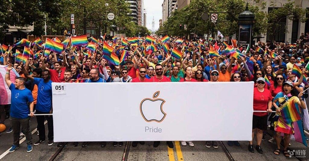 支持LGBTQ 苹果员工在北美参加