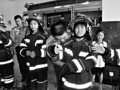 遇到火灾,儿童该怎么办
