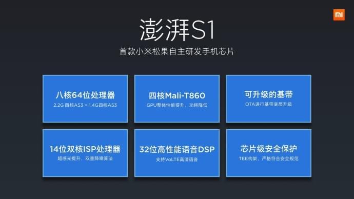小米澎湃S1自研芯片发布:跑分与联发科Helio P20相当的照片 - 3