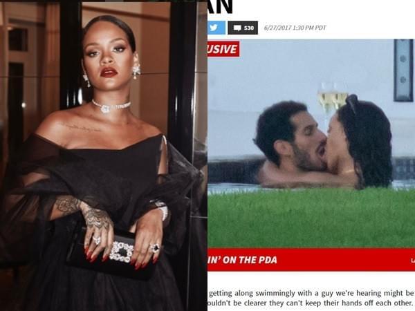 蕾哈娜被拍到和男友激吻