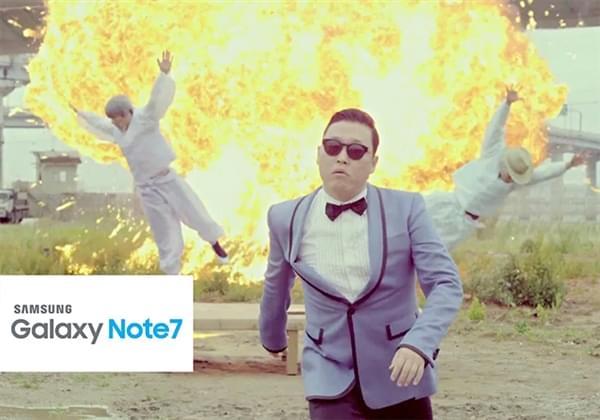 Note 7电池爆炸事件频发 全球网友奋力恶搞的照片 - 1