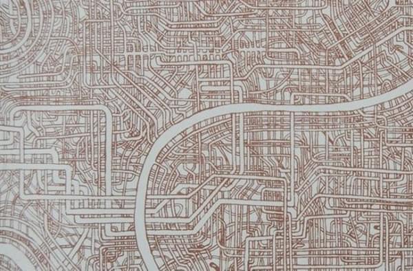 日本惊现超复杂迷宫图:竟然有近一米长的照片 - 4