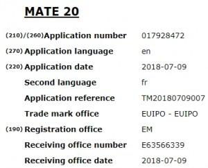 华为申请新款Mate系列手机名称:Mate 20/30
