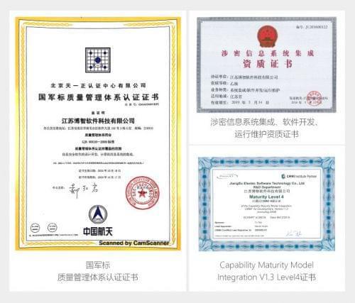 涉密信息系统集成资质及cmmi4等证书