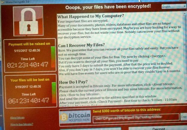 """""""想哭""""勒索软件威胁或将持续 用户仍然面临风险的照片"""