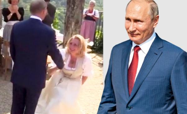 奥地利女外长婚礼向普京行屈膝礼被批评 本人回应