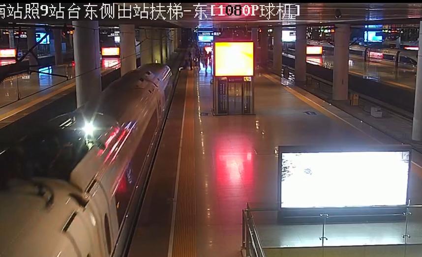 女子和男友闹着玩跳下站台逼停高铁 警方:行政处罚