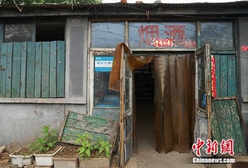 桃杨路副食店外景。中新网记者 李卿 摄