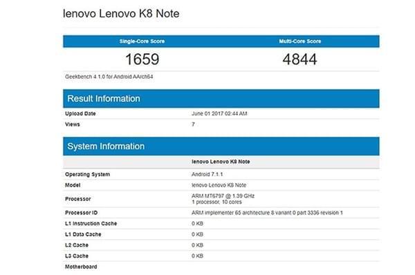 联想新机K8 Note即将发布:搭载联发科X20