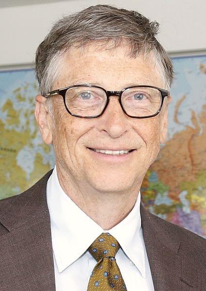 比尔·盖茨接受人民日报专访 盛赞中国发展的照片