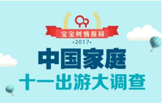 宝宝树发布《中国家庭十一出游大调查》 大数据深度洞察家庭出游