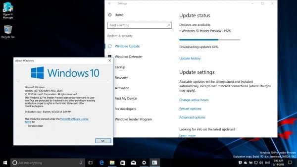 Win10 Build 14926发布:Insider旧版本10月15日后无法启动的照片 - 1