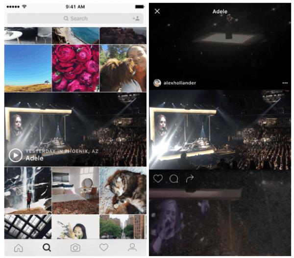 Instagram推出新频道:提供现场活动视频
