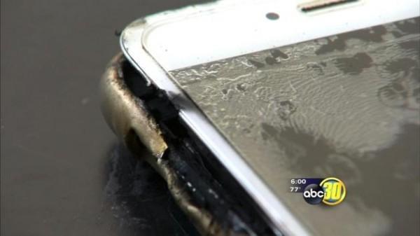 不光三星的手机烧:iPhone 6 Plus起火点燃卧室的照片