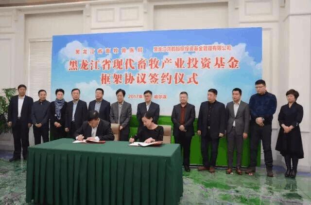 鸿鹤资本与黑龙江省现代畜牧产业投资基金签约