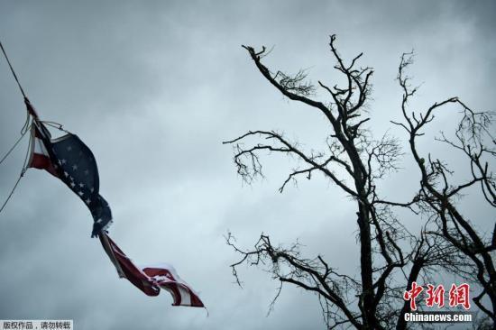 """飓风""""迈克尔""""登陆美国:已致2人死亡 火车被吹翻"""