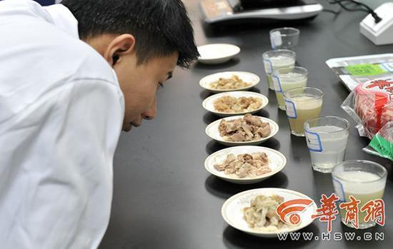 西安市场买6种羊肉卷实测后4种疑为拼接肉