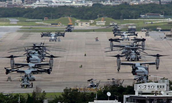 """日媒称驻日美军两架""""鱼鹰""""运输机紧急迫降"""