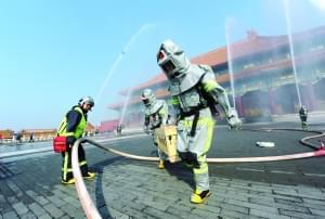 消防演习 护佑故宫