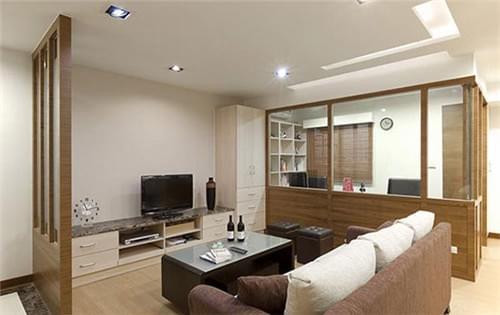 97平日式婚房,廊道推拉门,柚木色系,私人餐桌,连动式拉门,青岛婚房设计