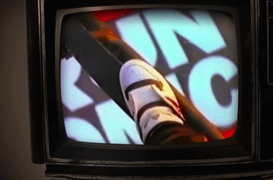 Run-D.M.C.与阿迪达斯合作的广告