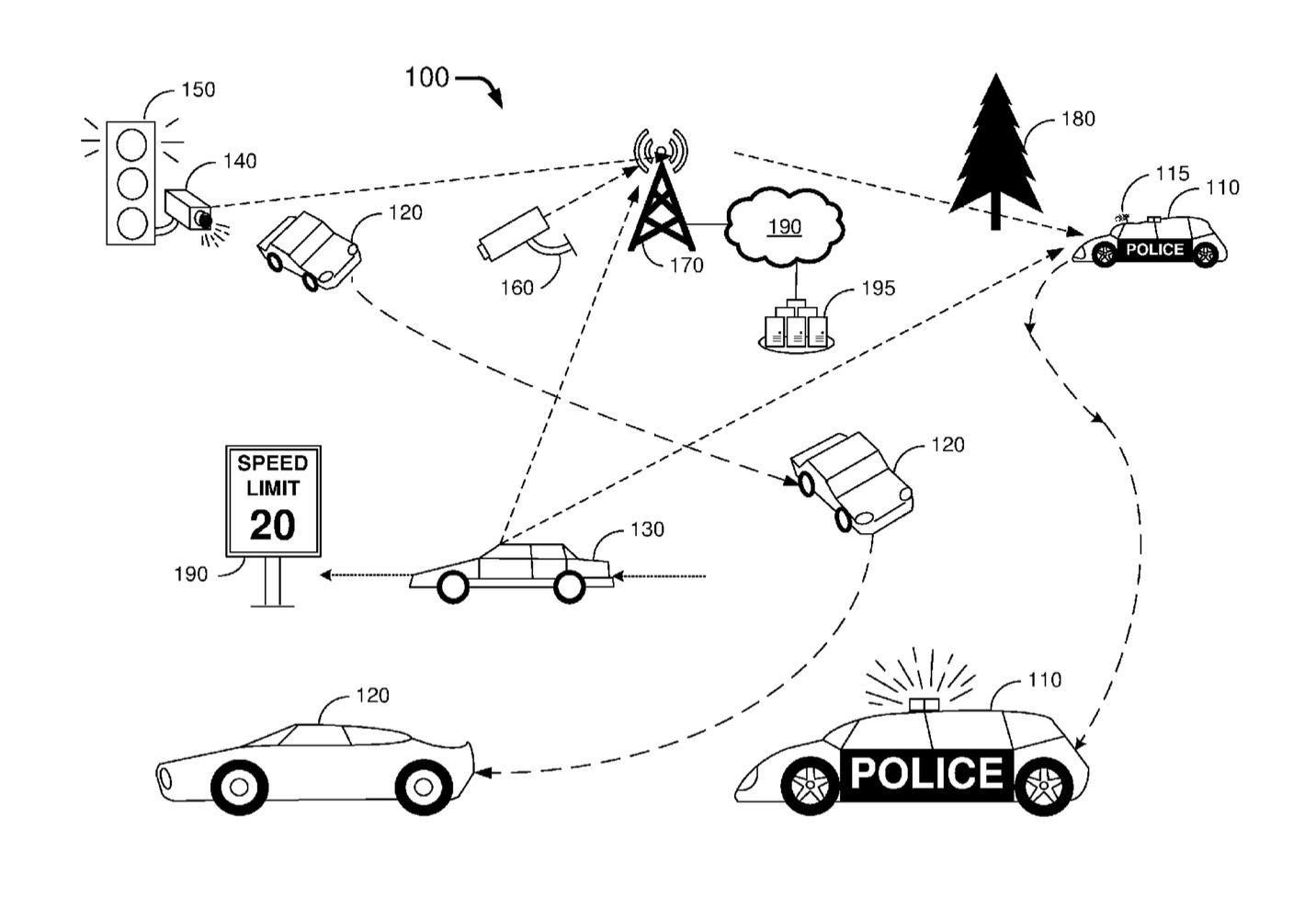 福特申请无人驾驶警车专利,可自动贴罚单