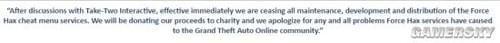 R星母公司叫停GTA5外挂 所得将用于慈善