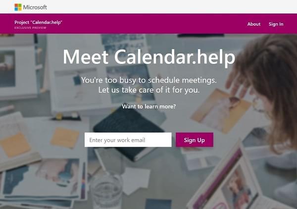 微软推出人工智能新服务:Calendar.help助你安排忙碌日程的照片