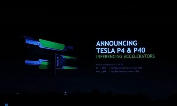 英伟达发布Tesla P4&P40两款基于Pascal架构的深度学习芯片的照片 - 1