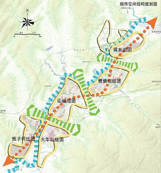 石柱县城市总体规划结构图(2013年).重庆市规划局供图 华龙网发