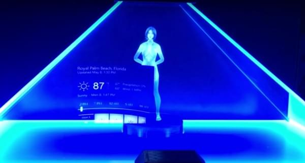 微软小娜首次变成了全息3D:身材火辣的照片 - 1